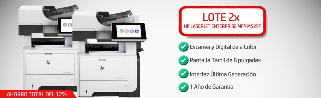 Lote Impresoras HP M525f
